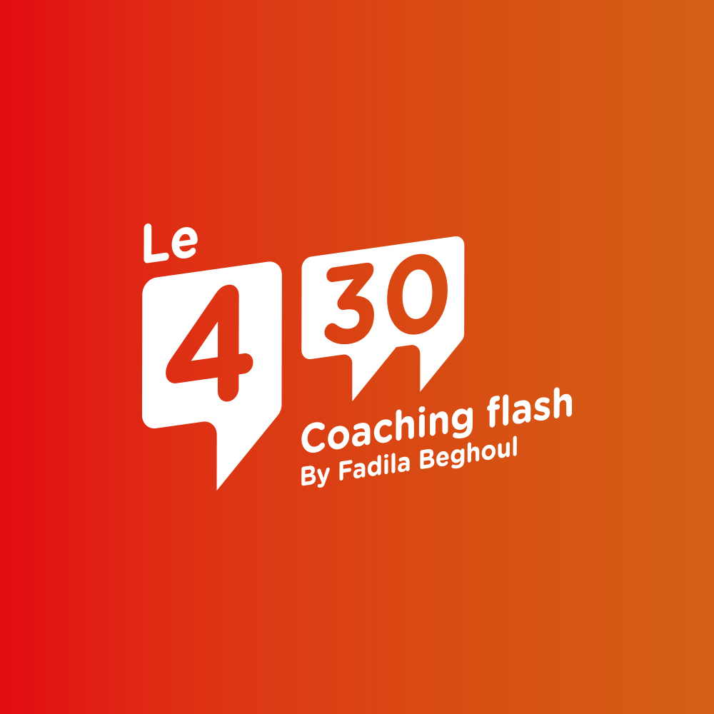 identité visuelle / coaching flash- 4'30 by Fadila Beghoul - création Wala studio
