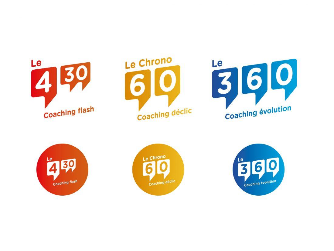 déclinaison de logo - 4'30 by Fadila Beghoul - création wala studio