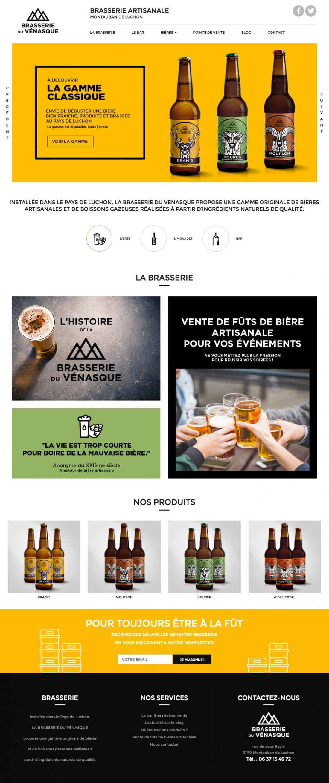 Communication globale pour la Brasserie du Vénasque - webdesign du site -WALA STUDIO GRAPHIQUE