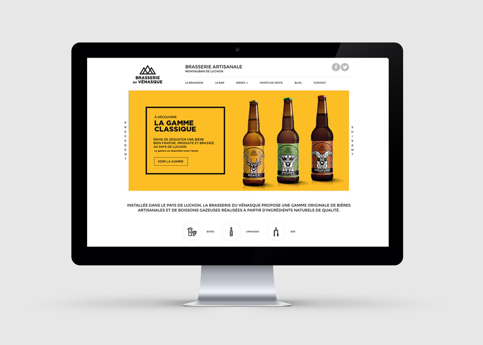 Communication globale pour la Brasserie du Vénasque - webdesign site internet -WALA STUDIO GRAPHIQUE