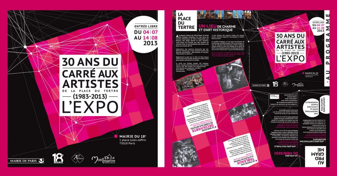 Exposition : affiche, invitation, programme - Wala Studio Graphique
