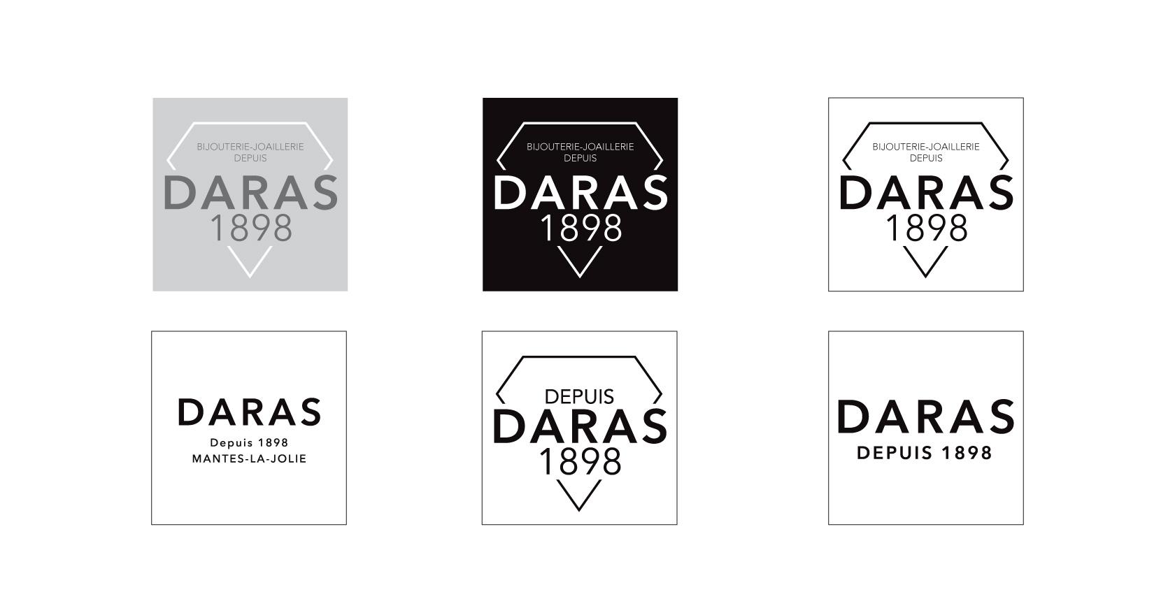 Identité Visuelle de DARAS - bijouterie-joaillerie - logotype