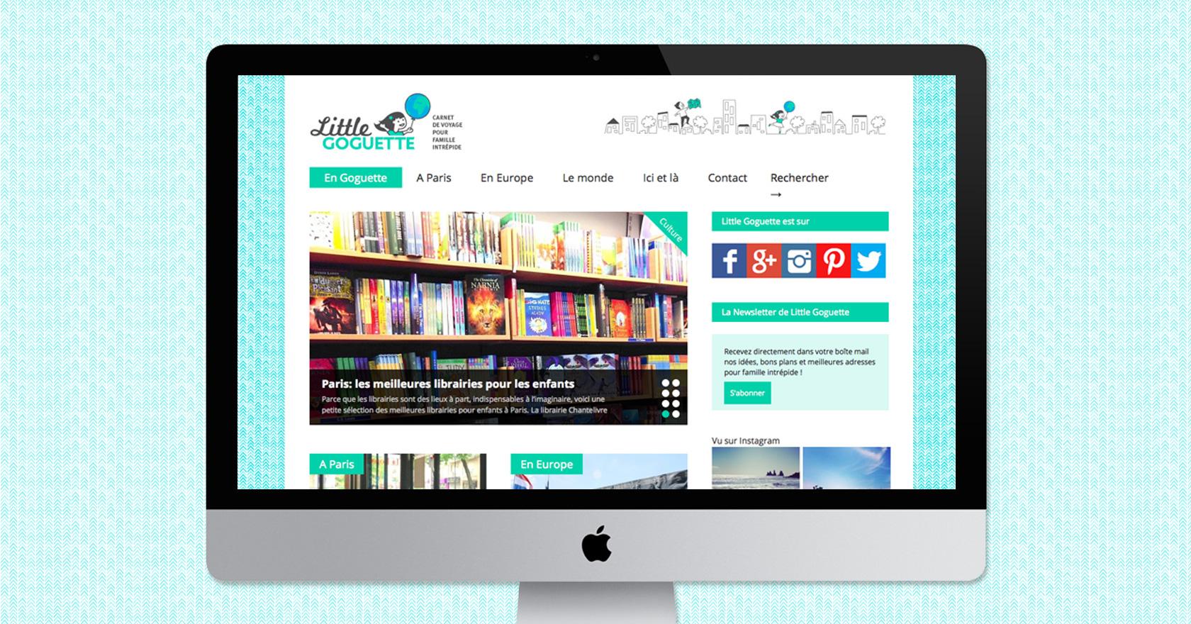 site web Little Goguette : illustration, logo, identité, site web - Wala Studio Graphique