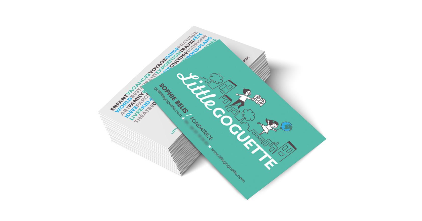carte de visite Little Goguette : illustration, logo, identité, site web - Wala Studio Graphique