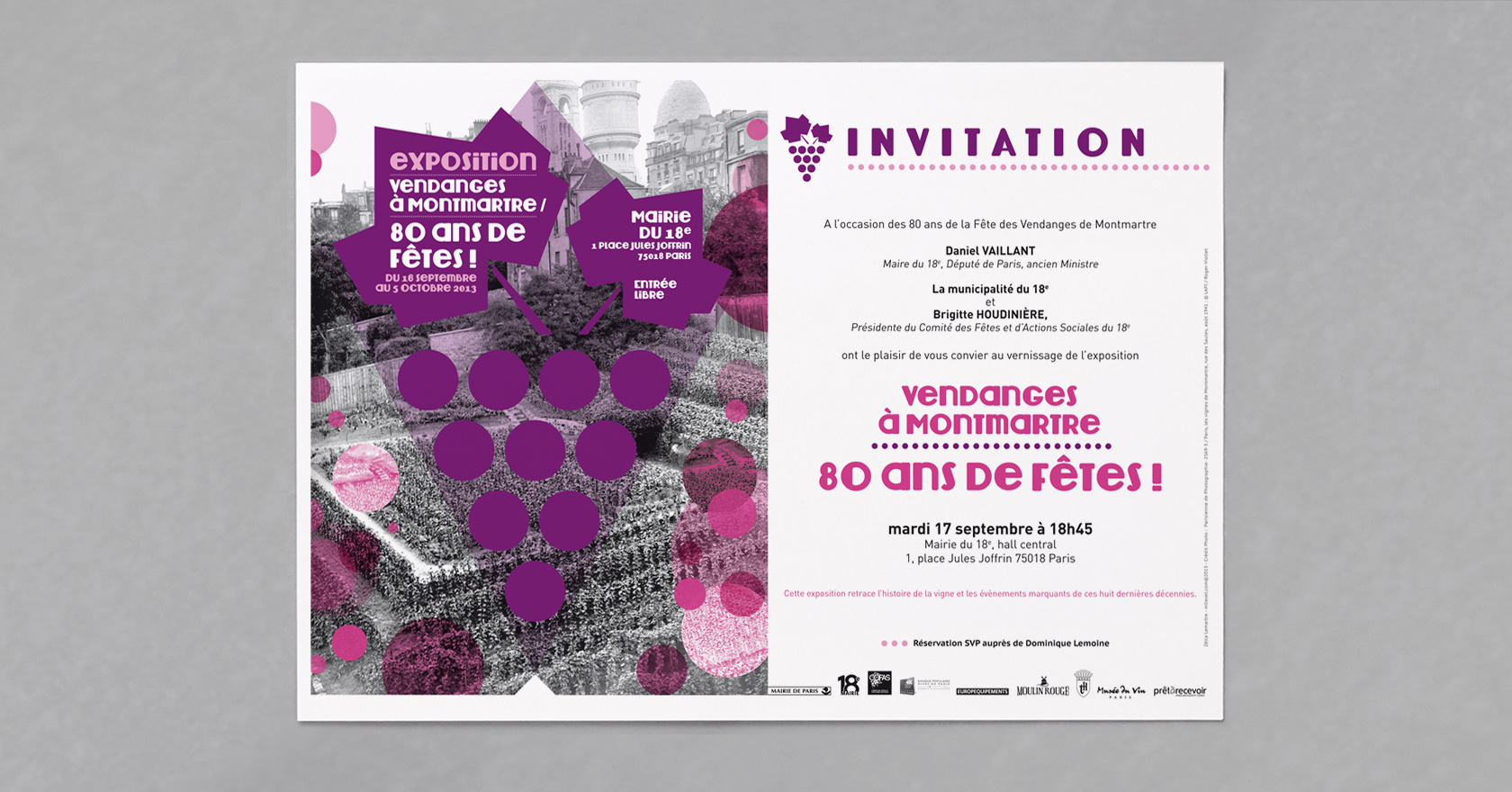 Invitation de l'exposition