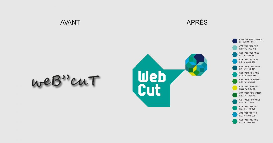 WebCut - logotype et déclinaisons - WALA STUDIO