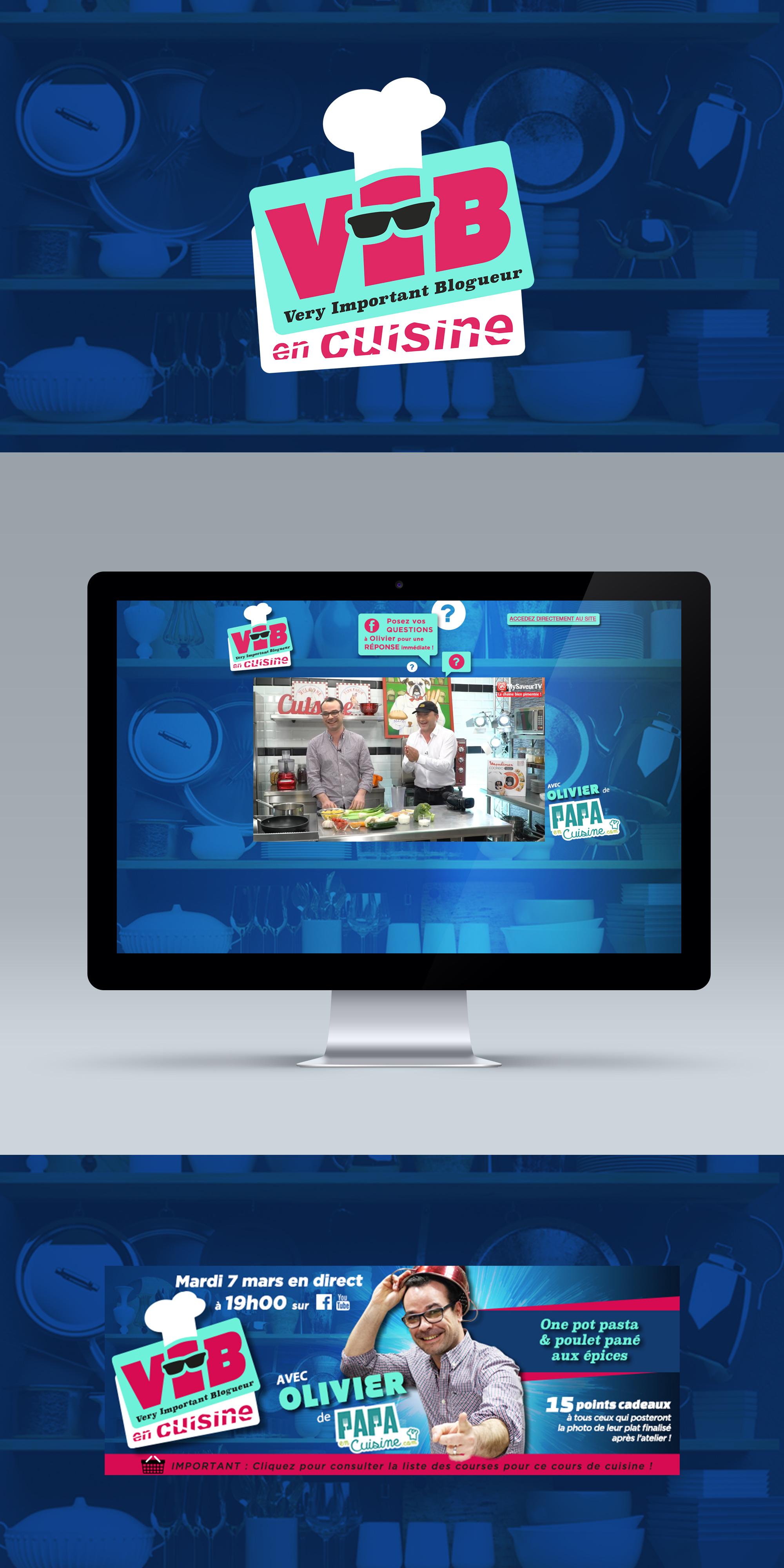 Création de logo pour emission webtv sur mysaveur - creation WALA studio graphique
