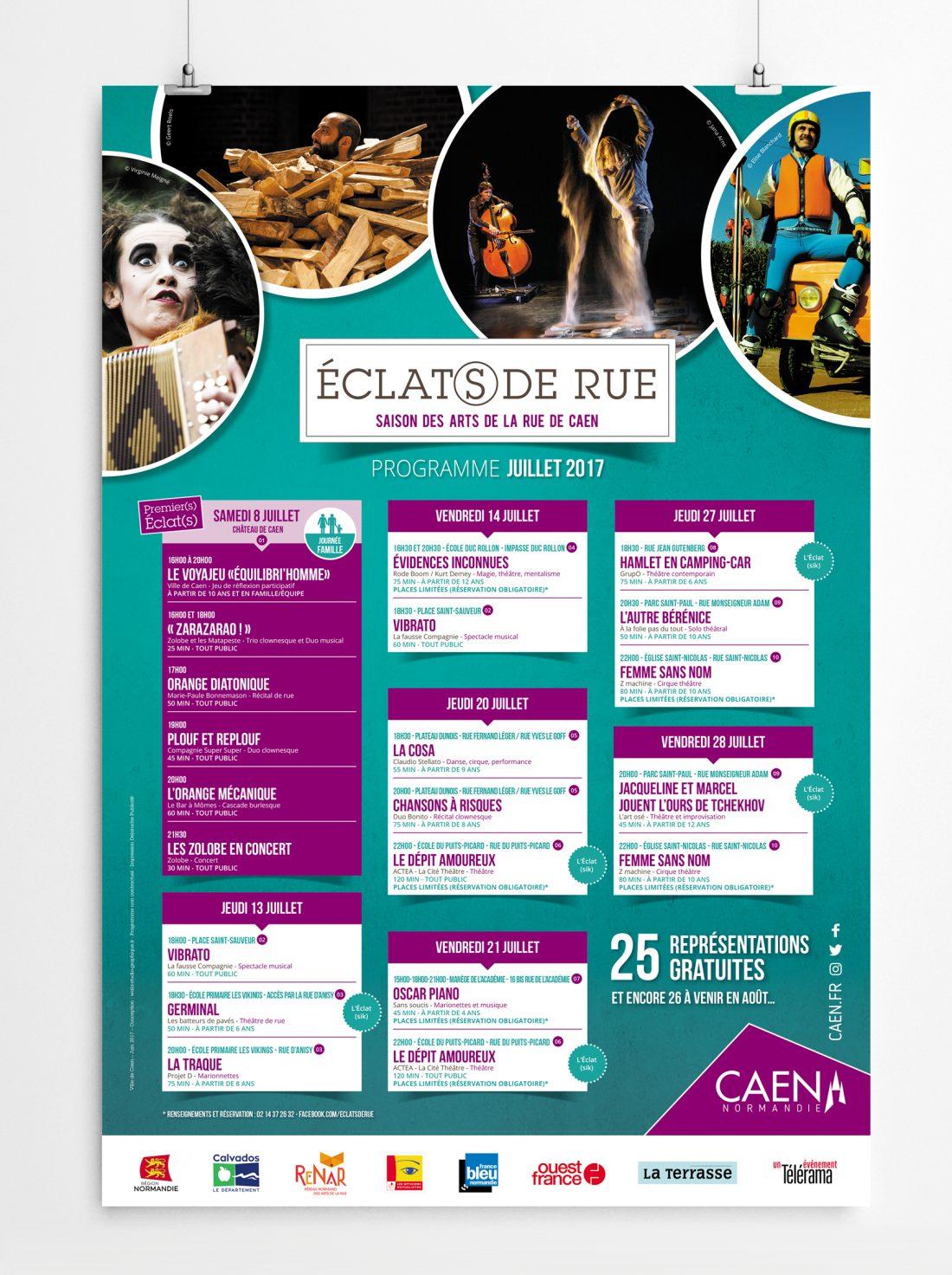 Affiche Festival des arts de la rue - Création graphique Wala-studio-graphique