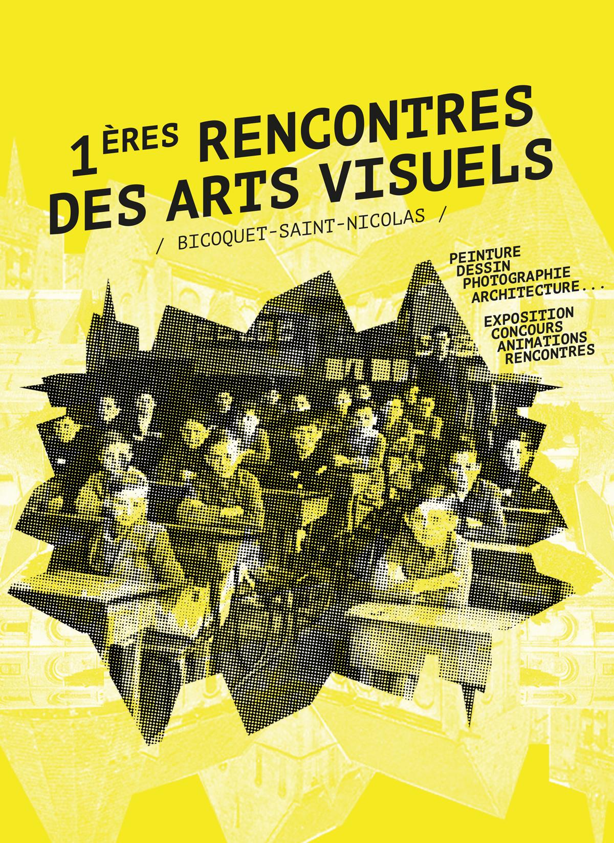 exposition 1ere Rencontres des Arts Visuels - photographe - peintre - artistes - CAEN NORMANDIE - création WALA studio graphique - le duo créatif - 2 graphiste freelance -