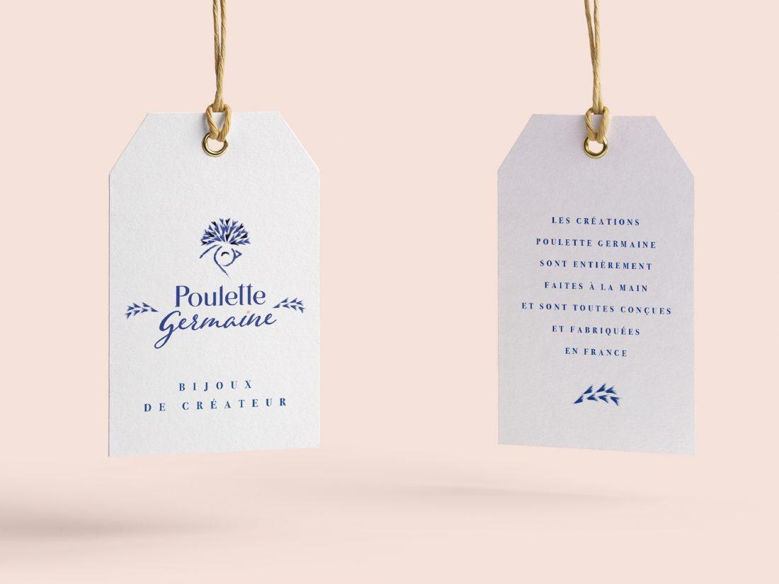 Etiquette Poulette Germaine -identité de marque -création WALA studio - freelance Normandie