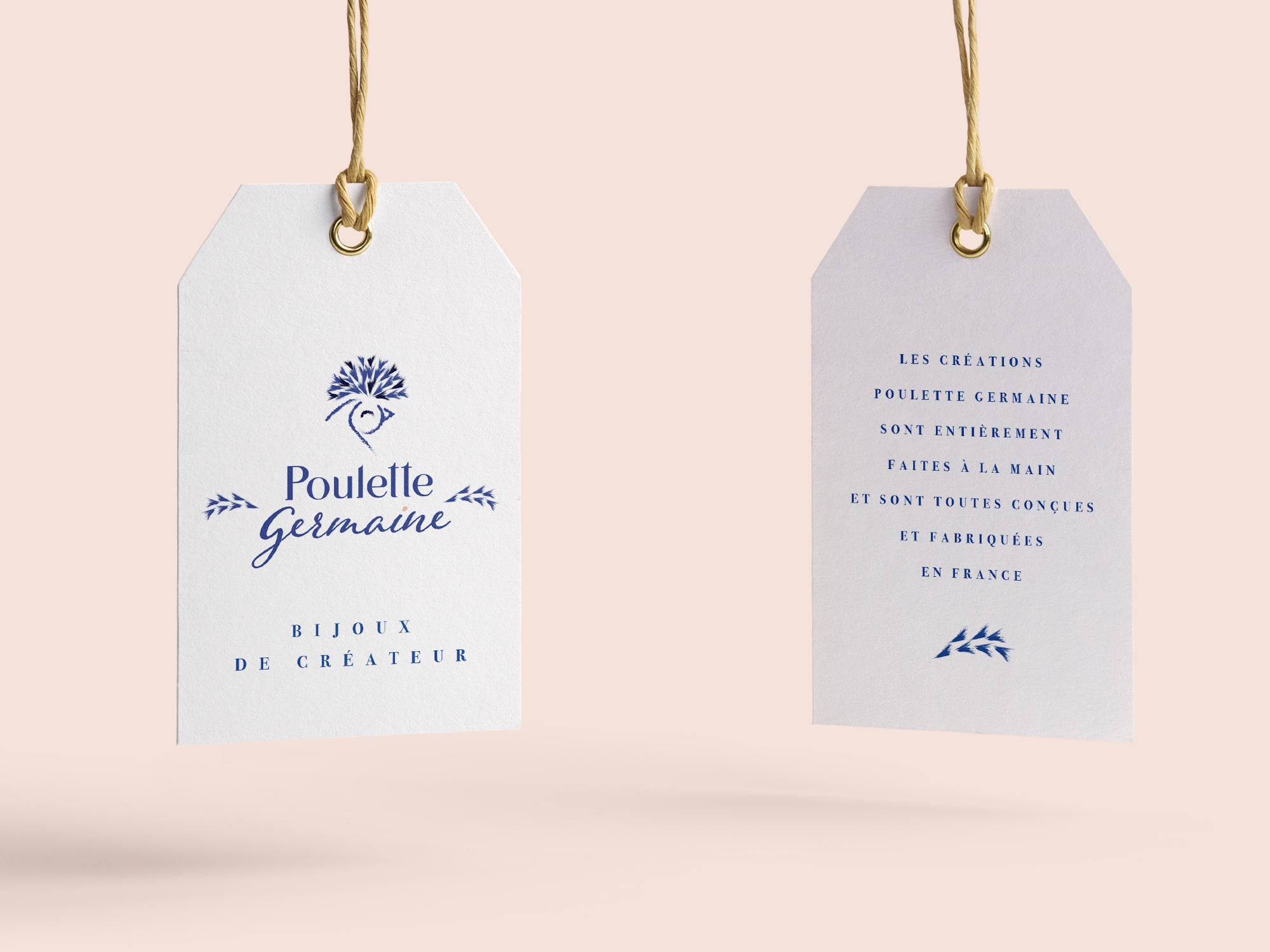 Etiquette Poulette Germaine -identité de marque -création WALA studio – freelance Normandie