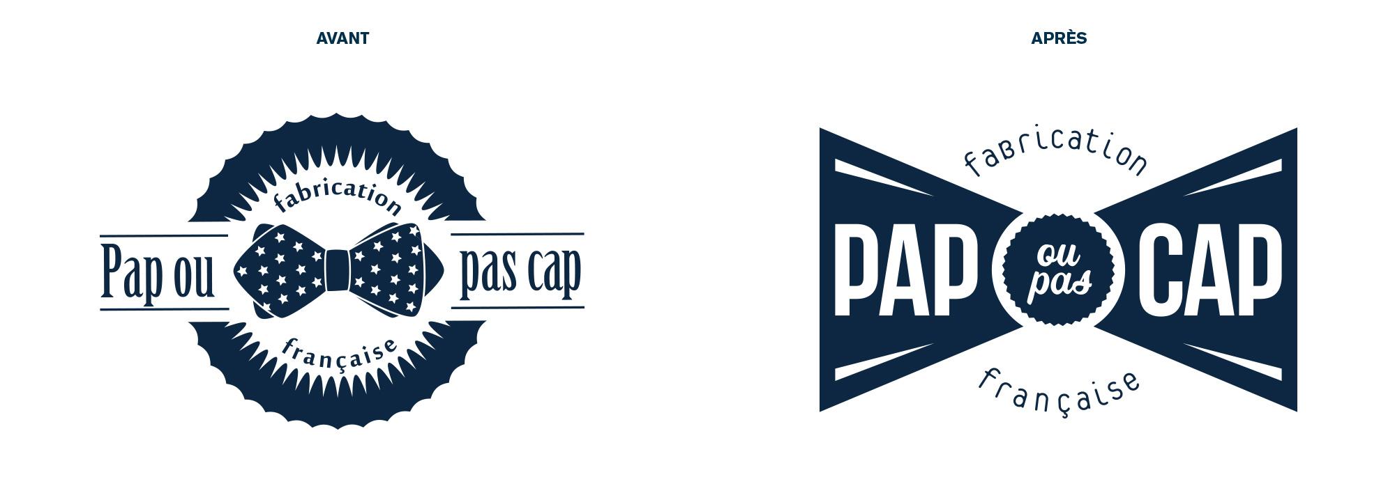 refonte de logotype PAP OU PAS CAP