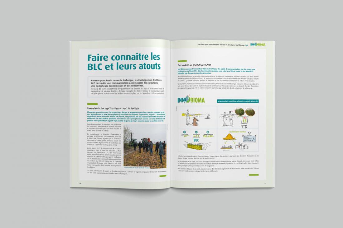 Conception graphique des supports de communication du projet Innobioma WALA Studio graphique Caen