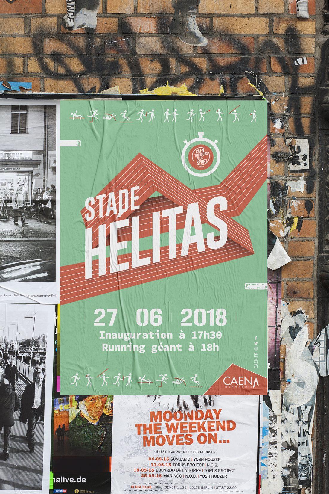 poster - affiche - inauguration - évènement caen normandie - WALA studio graphique